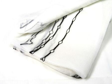 Gerüstnetz - Gerüstschutznetz - leichte Ausführung  3,07 m x 10 m weiß