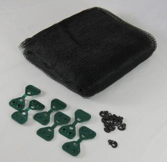 Hagelschutznetz 40 g/m² - schwarz - mit...