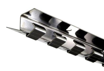 Befestigungsschiene - Hakenleiste - für PVC-Lamellen