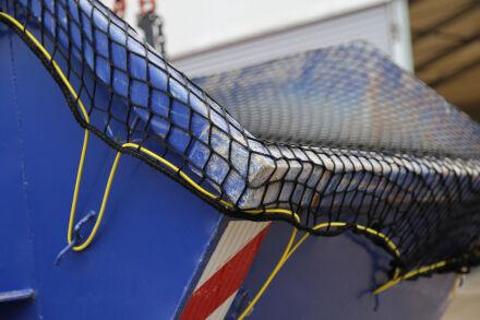 Containernetz - mit Expanderseil ringsum 1,50 m x 2,50 m