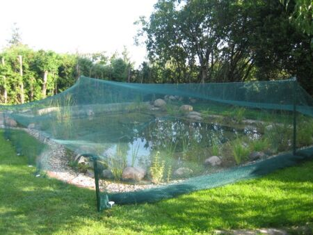Teichnetz - Schattiernetz - Laubnetz, fein 2,00 m x 50 m dunkelgrün