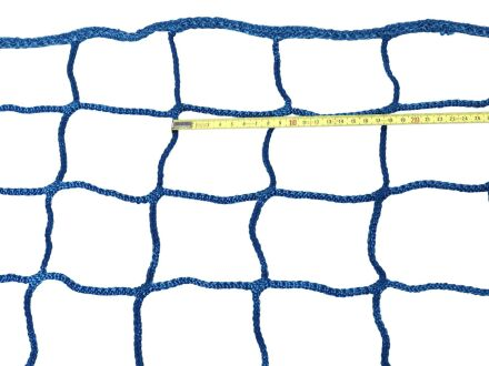 Seitenschutznetz - Maschenweite 100 mm - randverstärkt - 2,00 m x 10,00 m grün