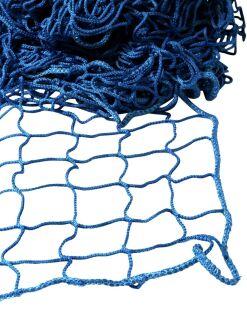 Seitenschutznetz - Maschenweite 100 mm - randverstärkt - 2,00 m x 10,00 m blau