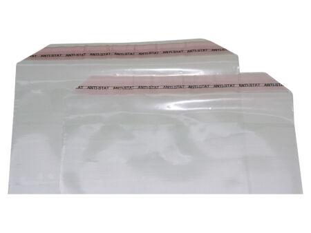 Adhäsionsverschlussbeutel 40 µm (PP) 400 x 600 mm - Klappenbreite 50 mm - gelocht - VE 1000 Stck