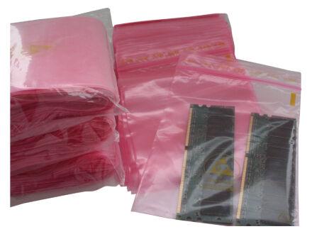 Antistatische Druckverschlussbeutel 50 µm 130 x 170 mm - VE 1000 Stck