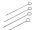 Heringe - 20 cm lang, verzinkt - Beutel à 100 Stück