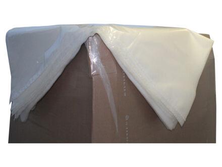 Schrumpfhaube (PE) - transparent 1.250 mm + 1.050 mm x 2.400 mm - VE 20 Stck