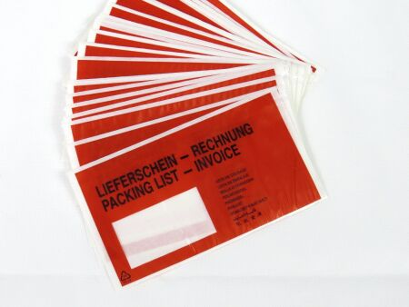 Begleitpapiertaschen - bedruckt - VE 1000 Stck C6 (165 x 120 mm) Lieferschein / Rechnung