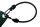 Expanderseil mit 2 Spiralhaken - schwarz - Beutel à 10 Stck 8 - 60