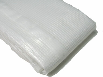 Gitterfolie - Abdeckfolie - weiß-transparent 3 m x 4 m
