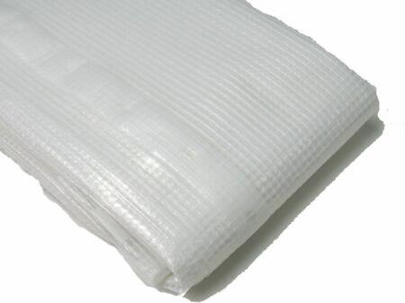 Gitterfolie - Abdeckfolie - weiß-transparent 4 m x 5 m