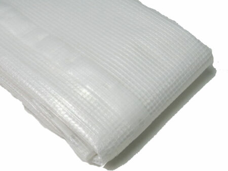Gitterfolie - Abdeckfolie - weiß-transparent 6 m x 10 m