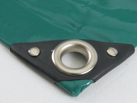 PVC-Plane - LKW-Plane - 650 g/m² - grün 8,0 m x 10 m