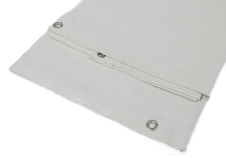 PE-Abdeckplane - Gewebeplane - 280 g/m² - weiß 3,0 m x 5,0 m