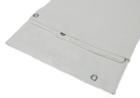 PE-Abdeckplane - Gewebeplane - 280 g/m² - weiß 4,0 m x 8,0 m