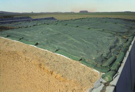 Silo-Schutzgitter - Standard-Qualität - grün 5 m x 14 m