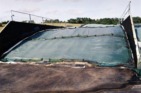 Silo-Schutzgitter - PremiumPlus-Qualität - grün 15 m x 18 m