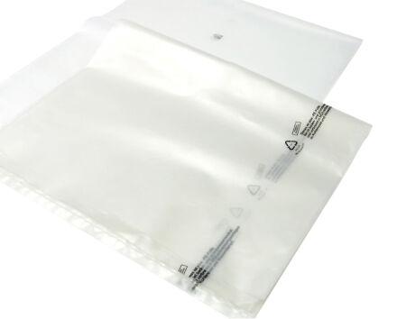 Flachsäcke - transparent/grau - 160 µm