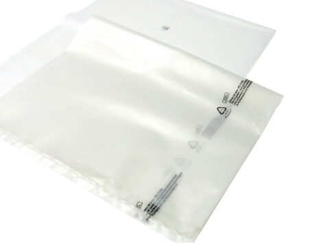 Flachsäcke - transparent/grau - 160 µm 1250 mm x 1500 mm - VE 25 Stück (grau)