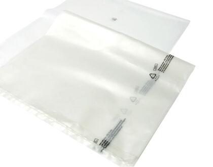 Flachsäcke - transparent - 200 µm 810 mm x...
