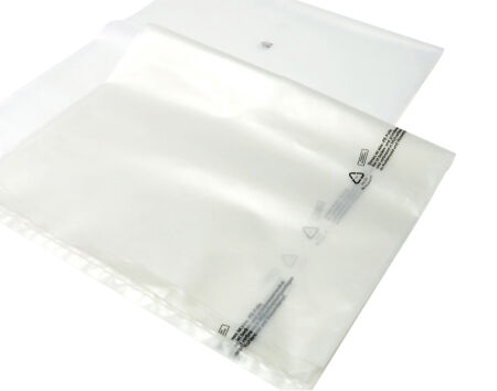Flachsäcke - transparent - 200 µm 850 mm x 1500 mm - VE 30 Stück