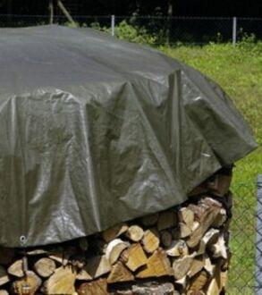 """Holzabdeckplane RUND - grün - """"schwere Ausführung"""" 4 m Durchmesser"""