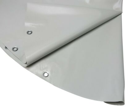 Rundplanen aus PVC - mit Ösen 4,00 m schokobraun