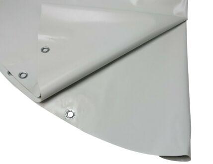 Rundplanen aus PVC - mit Ösen 4,00 m hellgrau