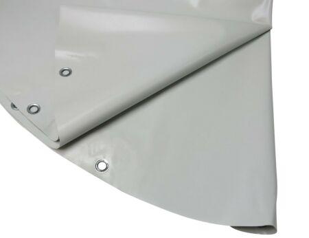 Rundplanen aus PVC - mit Ösen 4,00 m silber