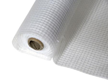 Gitterfolie - Baufolie - weiß-transparent 1,5 m x 100 m