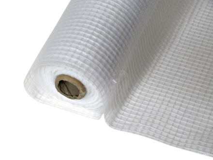Gitterfolie - Baufolie - weiß-transparent 1,5 m x...
