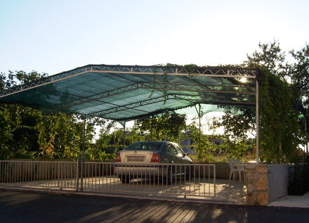 Carportabdeckung - 200 g/m² - rot 1,50 m x 50 m