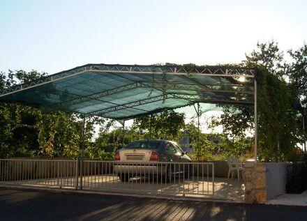 Carportabdeckung - 200 g/m² - blau-metallic 4,00 m x 50 m