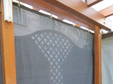 Windschutznetz - Schutzwert 80% - blau-metallic